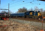 CSX 6025 on the Trenton Industrial track